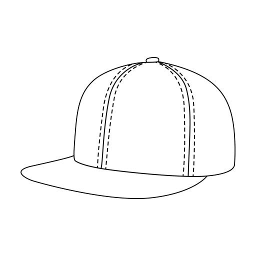 Baseball - flat visor